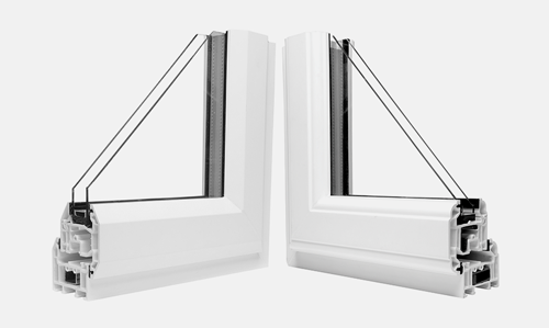 uPVC frames and beading