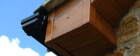 Black uPVC gutter and fascia