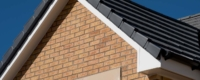New roofline installation with new fascia and new gutter