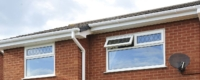 White uPVC roofline with new gutter and fascia