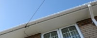 White uPVC fascia and soffit replacement