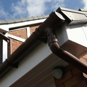 Brown PVCu gutter and fascias