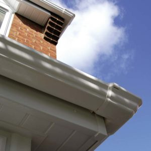 PVCu roofline soffit and gutter