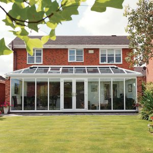 White double glazed uPVC conservatory