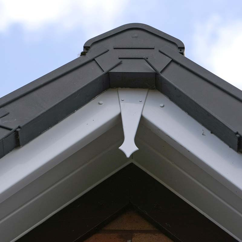 PVCu fascia with traditional detail