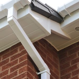 White roofline products in PVCu