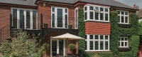 uPVC leaded bay windows