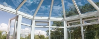 Victorian conservatory double glazed glass roof