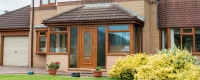 Oak effect uPVC porch and door