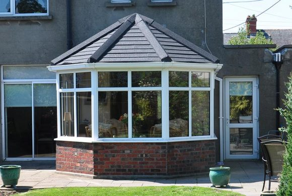 victorian conservatory with tiled roof