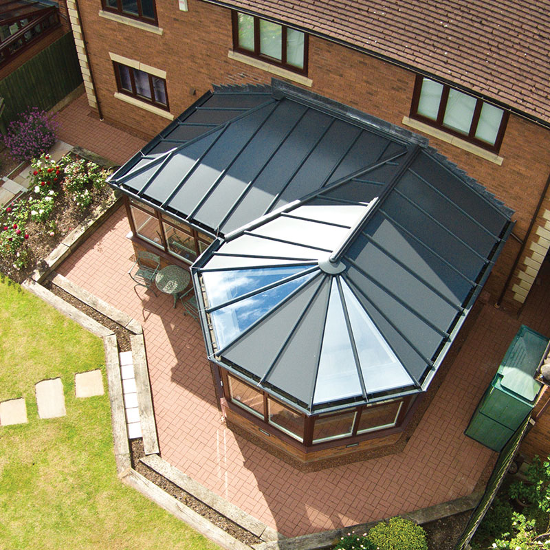 LivinRoof conservatory with opaque roof