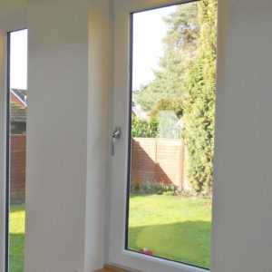 An internal view of a tilt and turn window in a conservatory