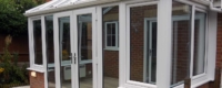 Tilt and turn windows installed into a conservatory