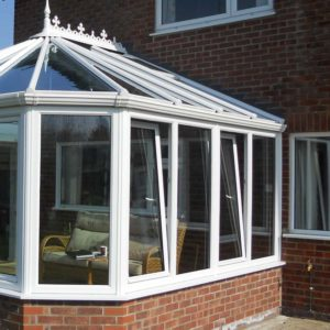 Tilt and turn windows installed with new conservatory