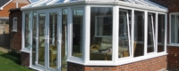 Tilt and turn windows installed with new uPVC conservatory