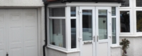 White double glazed porch