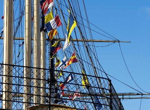 SS Great Britain with blue sky